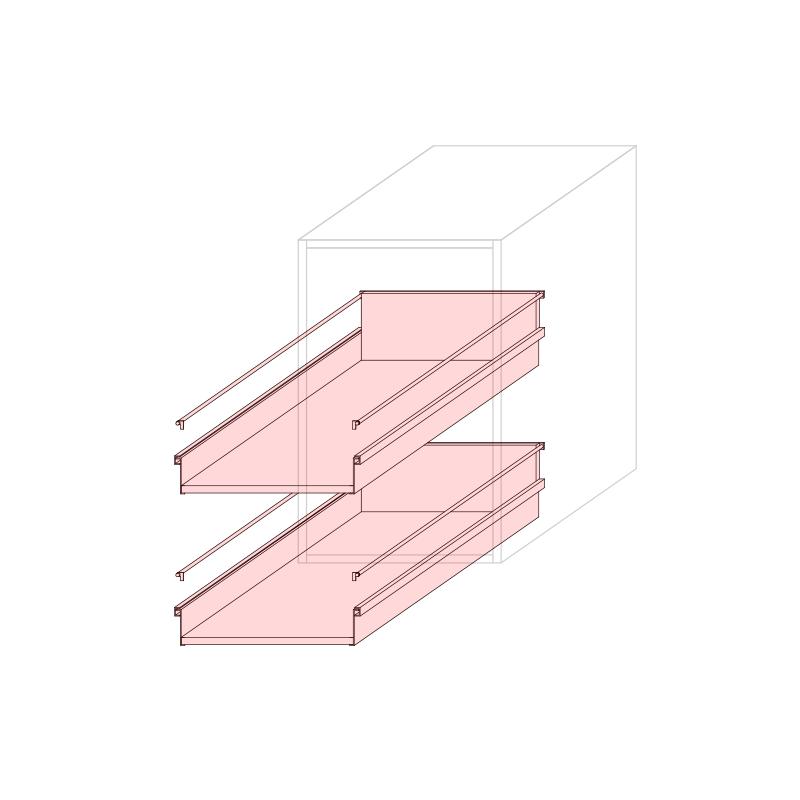 CST L450 - Drawer base cabinet 2C