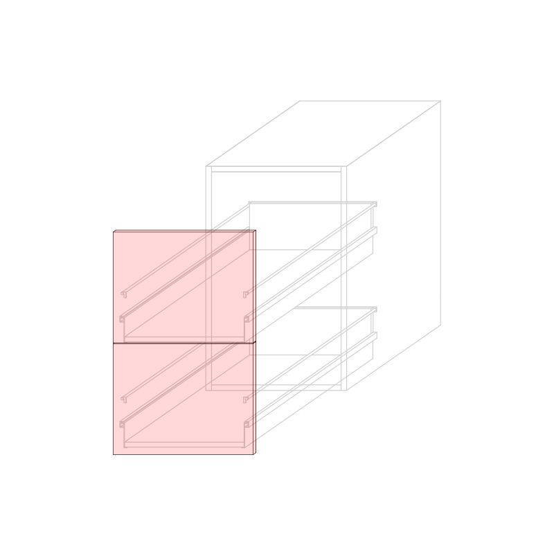 FRT LARA L450 - Drawer base cabinet 2C