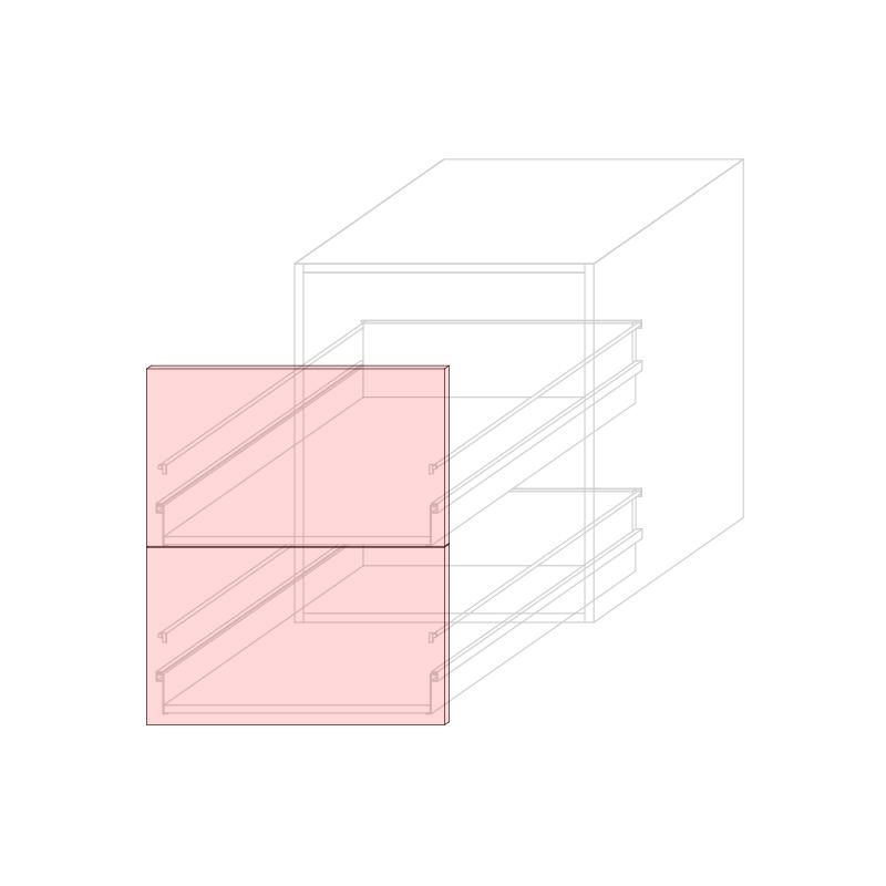 FRT LARA L600 - Drawer base cabinet 2C
