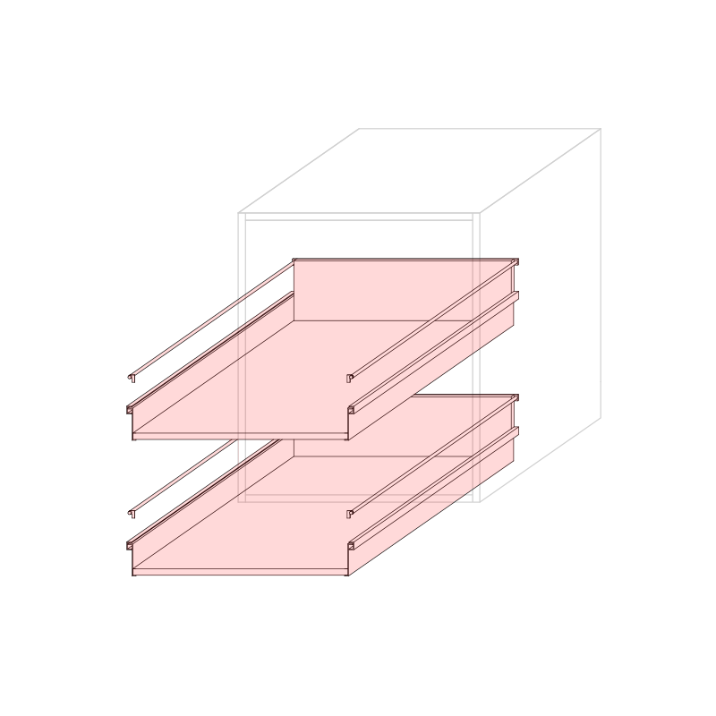 CST L600 - Drawer base cabinet 2C