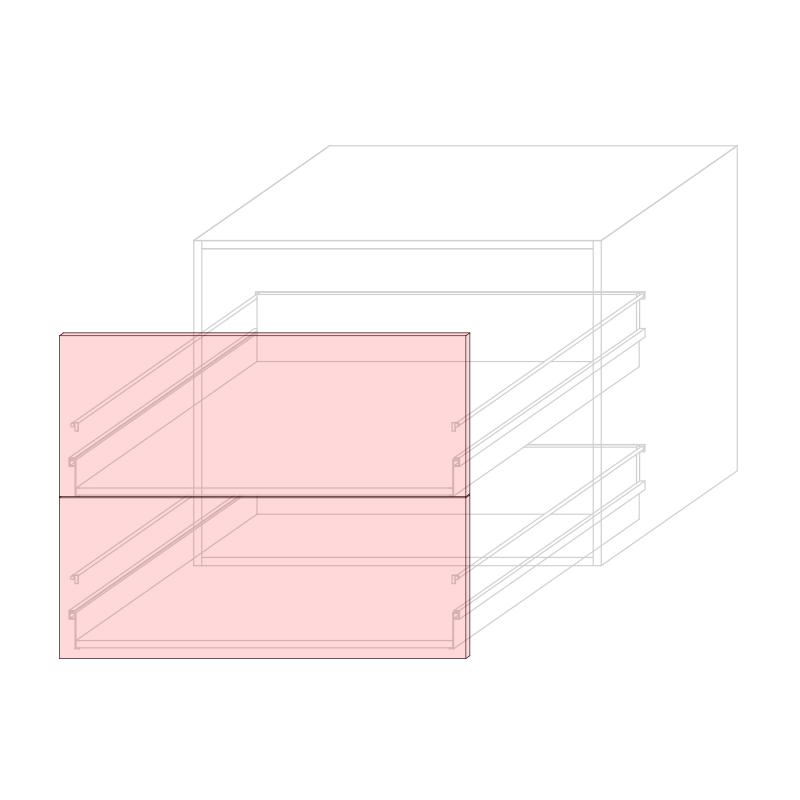 FRT LARA L900 - Drawer base cabinet 2C