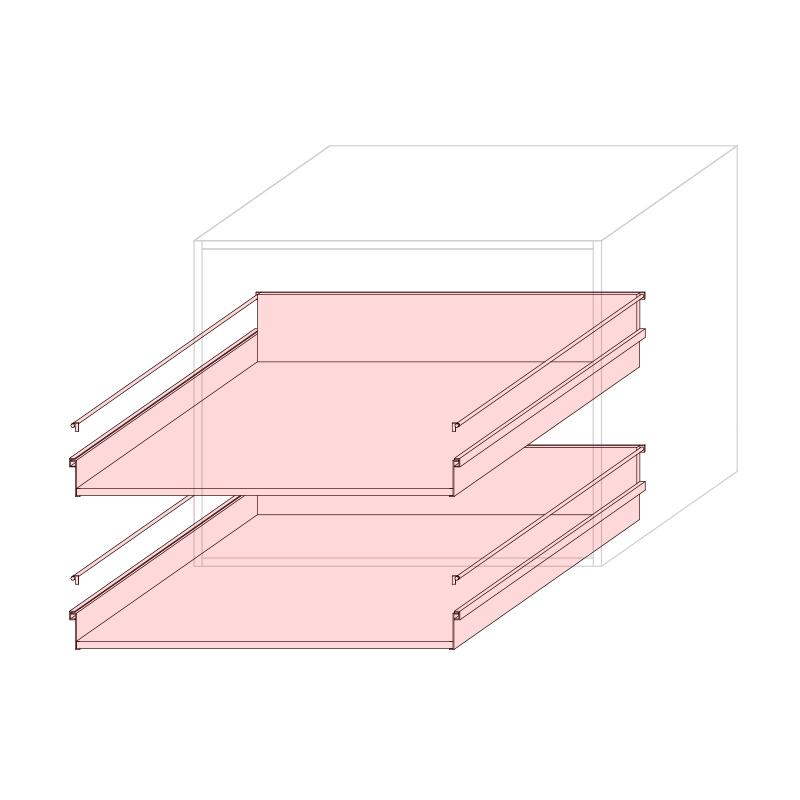 CST L900 - Drawer base cabinet 2C