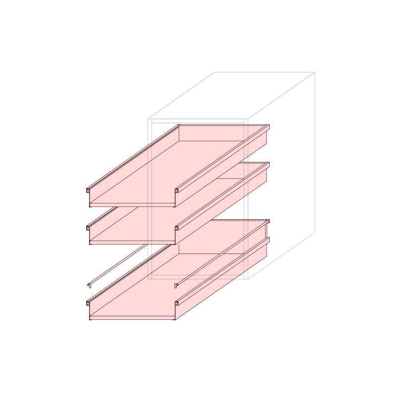CST L450 - Drawer base cabinet 3C