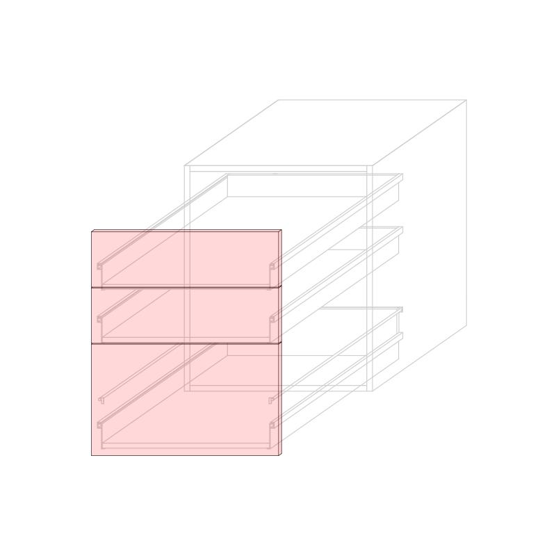 FRT LARA L600 - Drawer base cabinet 3C