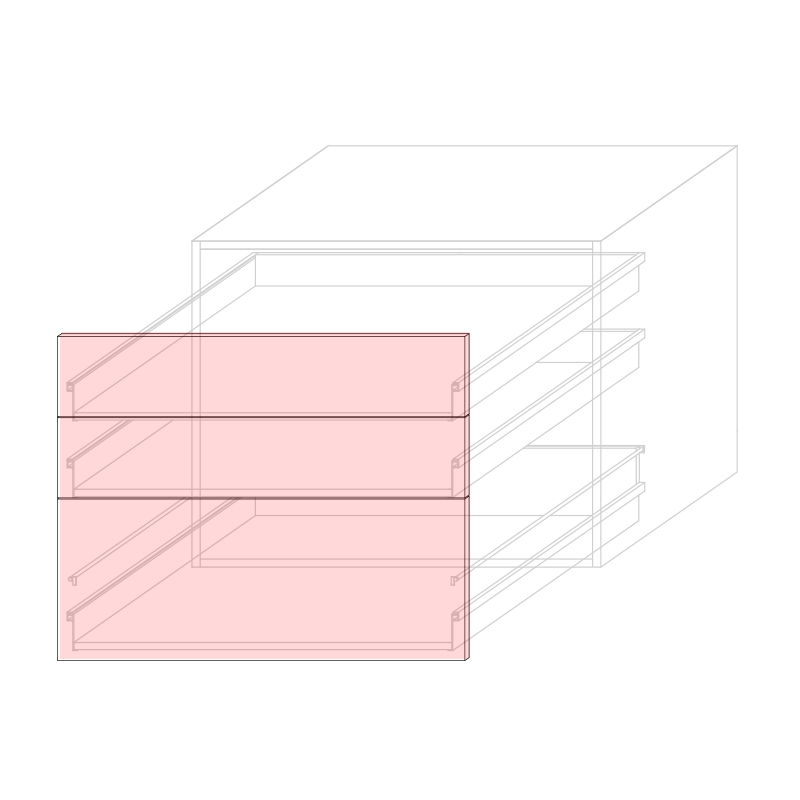 FRT LARA L900 - Drawer base cabinet 3C