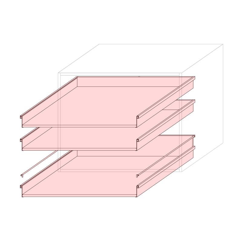 CST L900 - Drawer base cabinet 3C