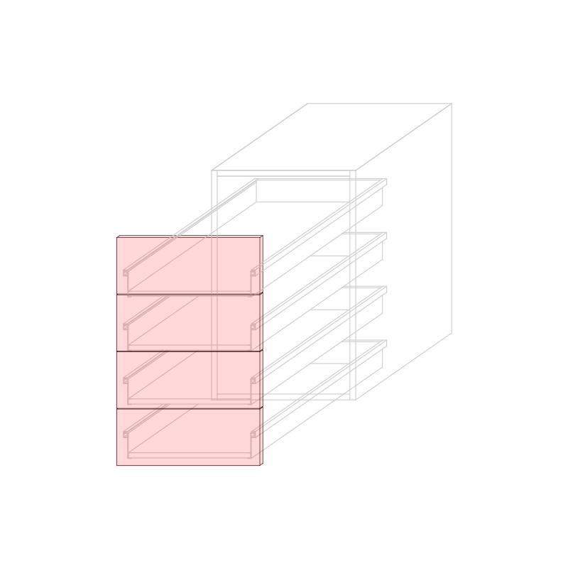 FRT LARA L450 - Drawer base cabinet 4C