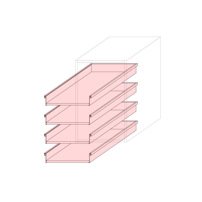 CST L450 - Drawer base cabinet 4C