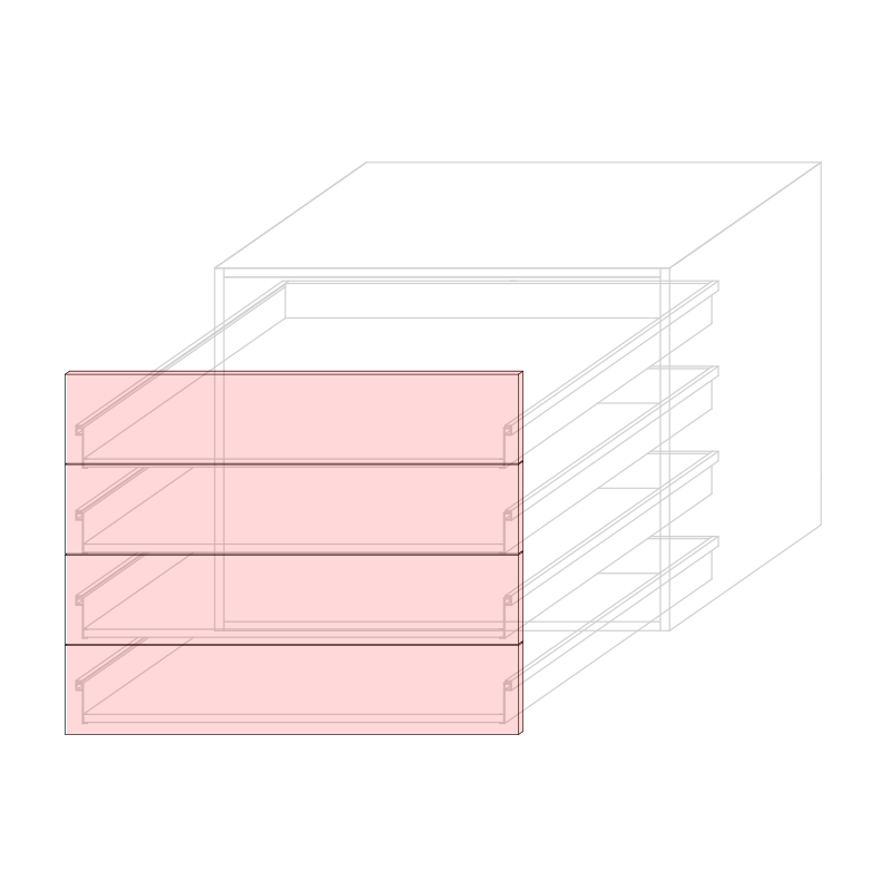 FRT LARA L900 - Drawer base cabinet 4C