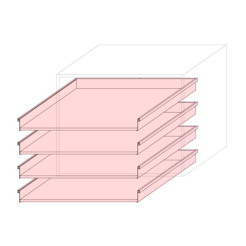 CST L900 - Drawer base cabinet 4C
