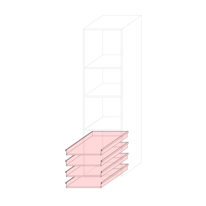 CST L600 - Tall larder cabinet H2280 4C