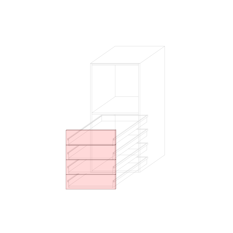 FRT LARA L600 - Tall mini oven cabinet H1320 4C