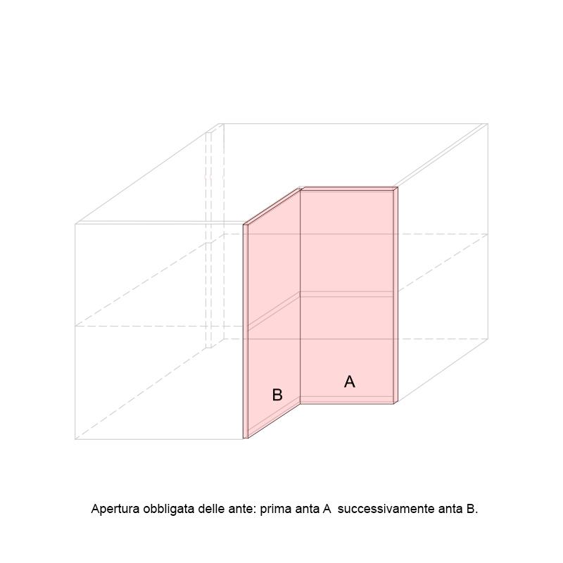 LARA - L-shaped Corner base cabinet 900x900