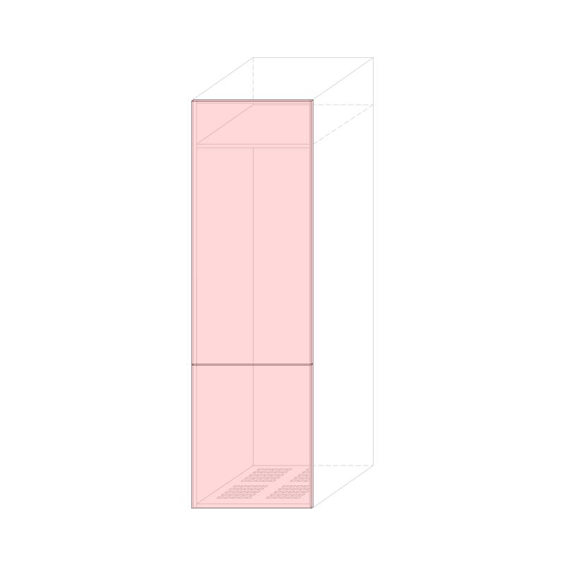 LARA L600 - Tall fridge cabinet H2040 320LT.