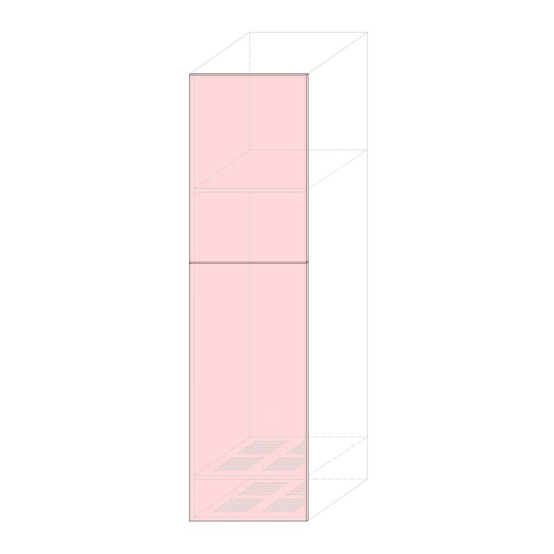 LARA L600 - Tall fridge cabinet H2280 240LT.