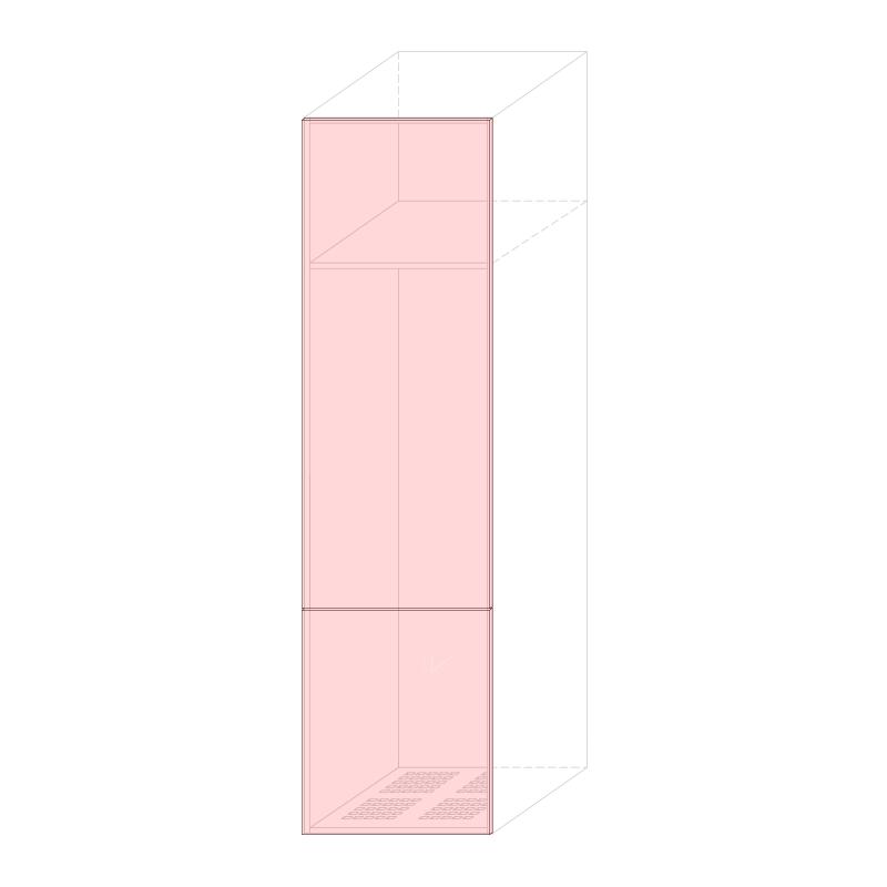 LARA L600 - Tall fridge cabinet H2280 320LT.